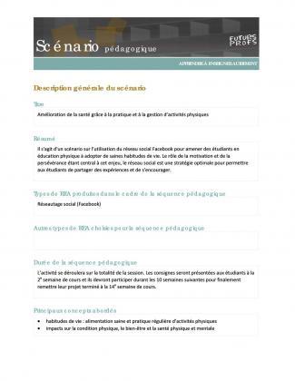Document : Amélioration de la santé grâce à la pratique et à la gestion d'activités physiques
