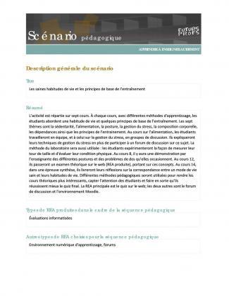 Document : Saines habitudes de vie et les principes de base de l'entraînement (Les)