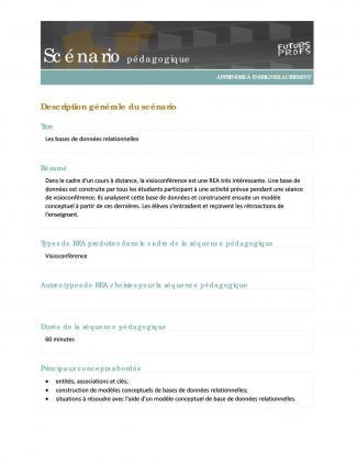 Document : Bases de données relationnelles (Les)
