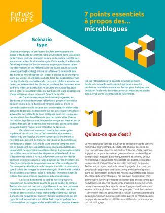 Document : Microblogues - 7 points essentiels