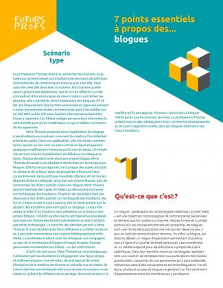 Document : Blogues - 7 points essentiels