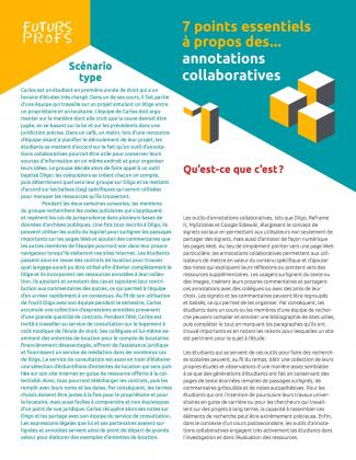 Annotations collaboratives - 7 points essentiels